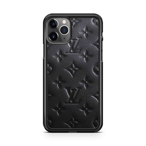 LV Black Leather iPhone 11 Pro Max Case