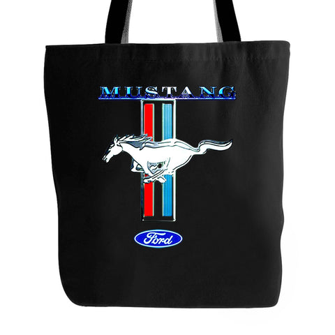 Ladies Car Ford Mustang Stripe Flowy Tote Bag