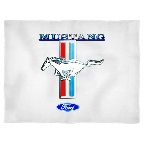 Ladies Car Ford Mustang Stripe Flowy Blanket