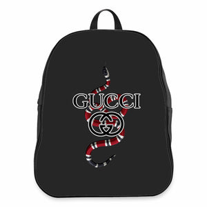 Life Is Gucci Logo Design School Backpacks Bag