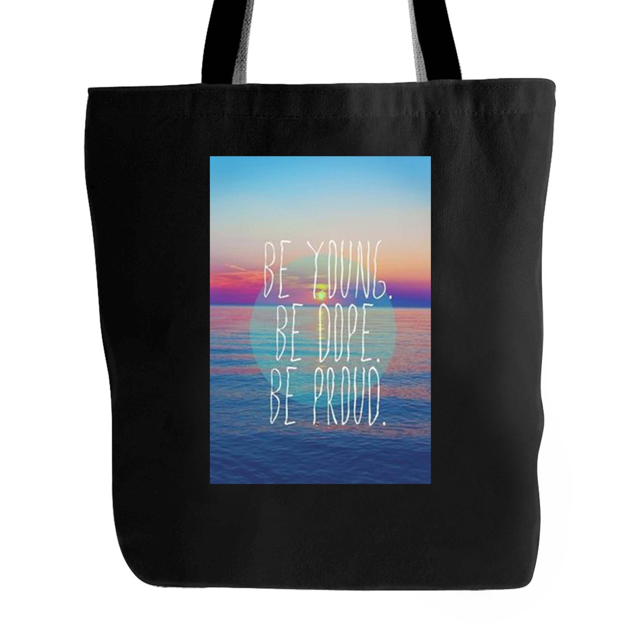 Like An American Lyrics Be Young Be Dope Be Proud Tote Bag