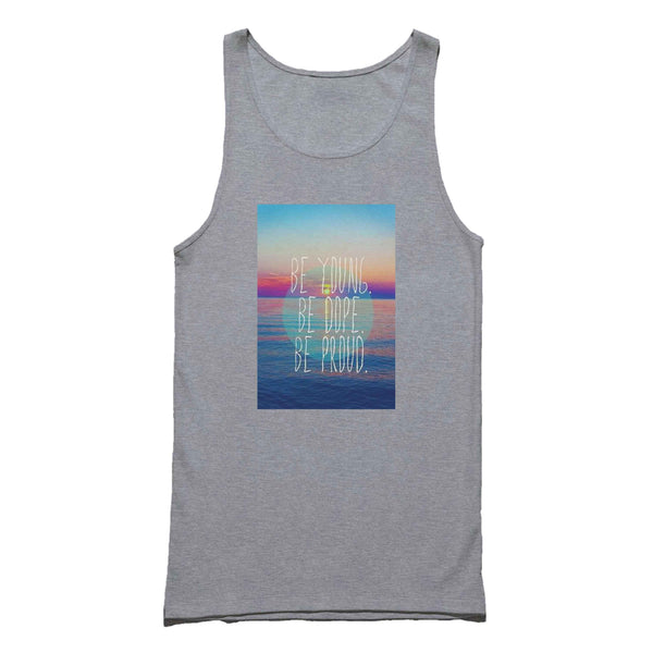 Like An American Lyrics Be Young Be Dope Be Proud Tank Top