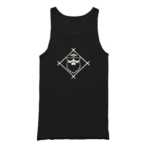 Live Bearded Shave Life Beard Co Brand Tank Top