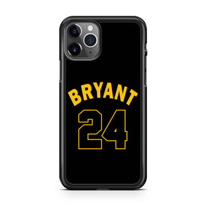 Los Angeles La Laker Legend Kobe Bryant Retiring 24 Jersey Numbers iPhone 11 Pro Max Case