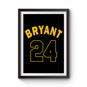 Los Angeles La Laker Legend Kobe Bryant Retiring 24 Jersey Numbers Poster