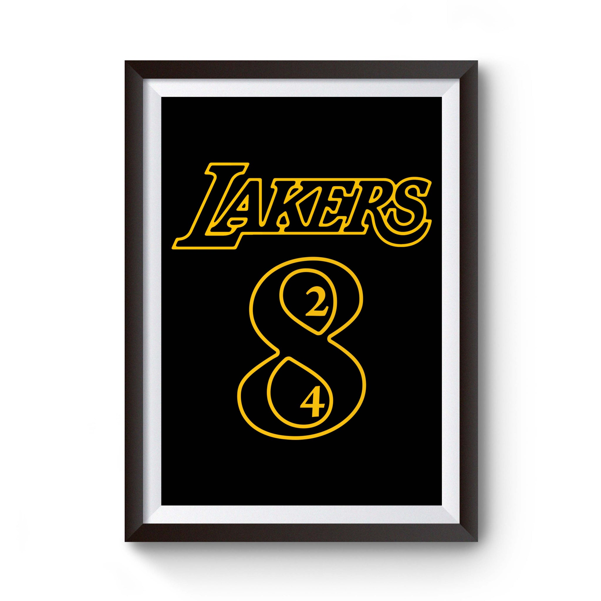 Los Angeles La Laker Legend Kobe Bryant Retiring 8 And 24 Jersey Numbers Poster