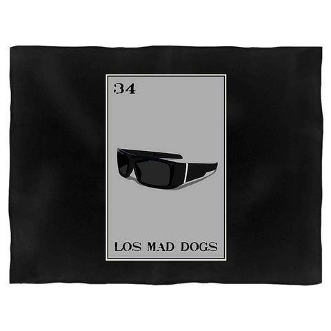 Los Mad Dogs Loteria Locs Shades Mad Dawgs Blanket