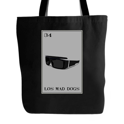 Los Mad Dogs Loteria Locs Shades Mad Dawgs Tote Bag