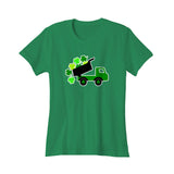 Lucky St Patricks Day Vintage Truck Clover Shamrock Women's T-Shirt