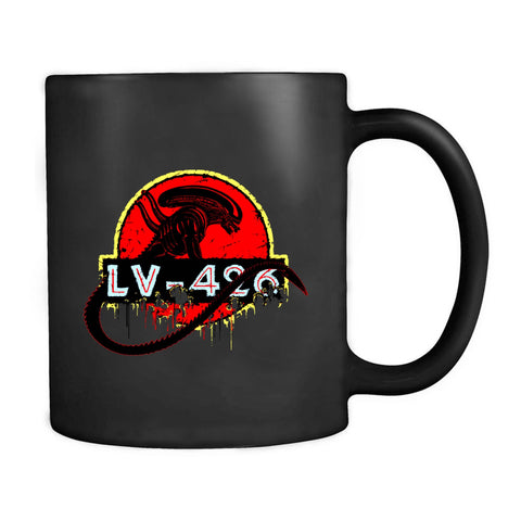 Lv426 Alien Jurassic Park Scifi Logo Xeno Movie Funny Space Mug