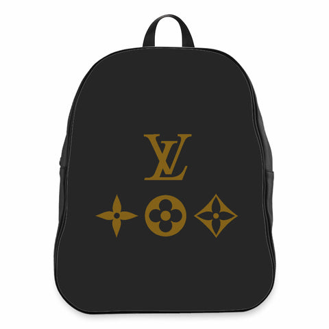 Lv Louis Vuitton Gucci Givenchy Logo School Backpacks Bag