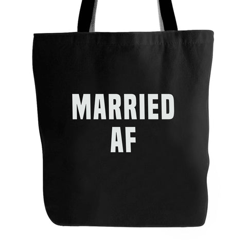 Married Af Funny Humour Hipster Wedding Tote Bag
