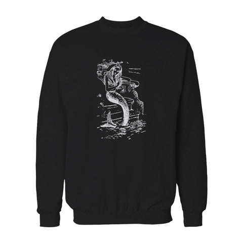 Mermaid Vintage Design Ocean Beach Siren Sweatshirt