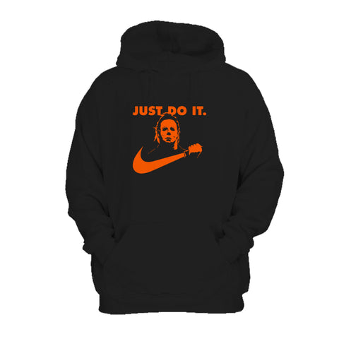 Michael Myers Just Do It Nike Parody Funny Halloween Scary Horror Movie Pop Culture October Friday The 13th Hoodie
