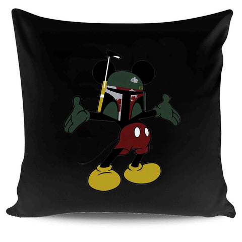 Mickey Mouse Boba Fett Sublimation Star Wars Disney Force Pillow Case Cover