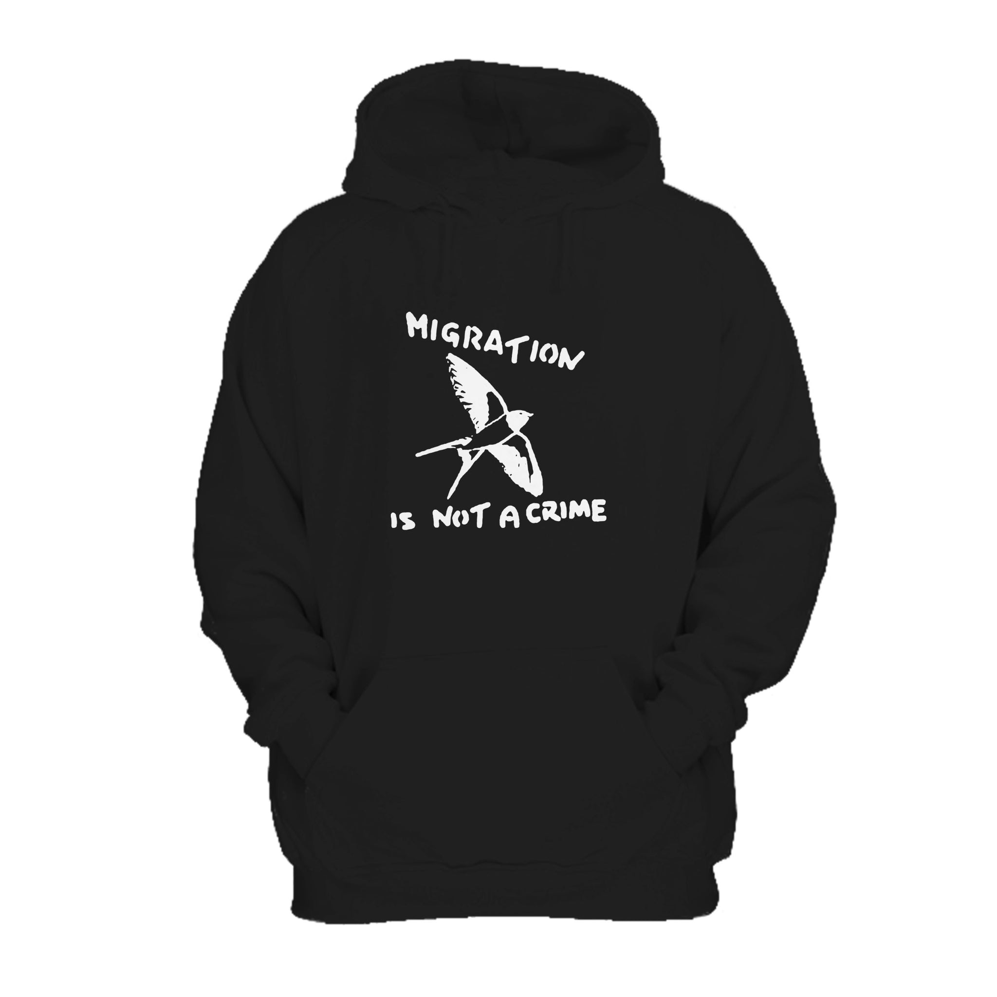 Migration is not a Crime Banksy Youth /& Womens Sweatshirt