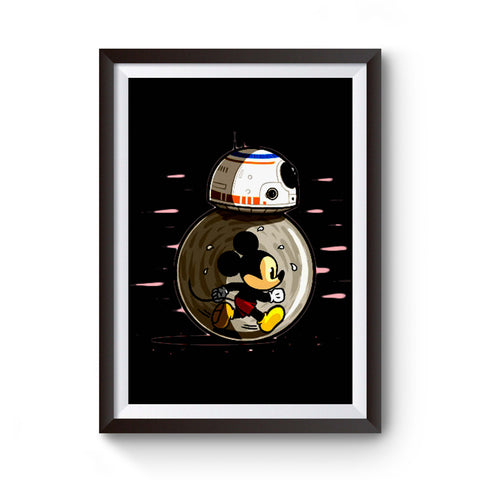 Mm8 For Star Wars Bb8 Disney Or Mickey Mouse Lovers Worldwide Poster