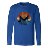 Monero Distressed Xmr Cyrpto Symbol Long Sleeve T-Shirt