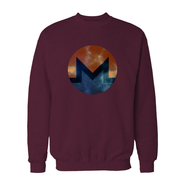Monero Distressed Xmr Cyrpto Symbol Sweatshirt