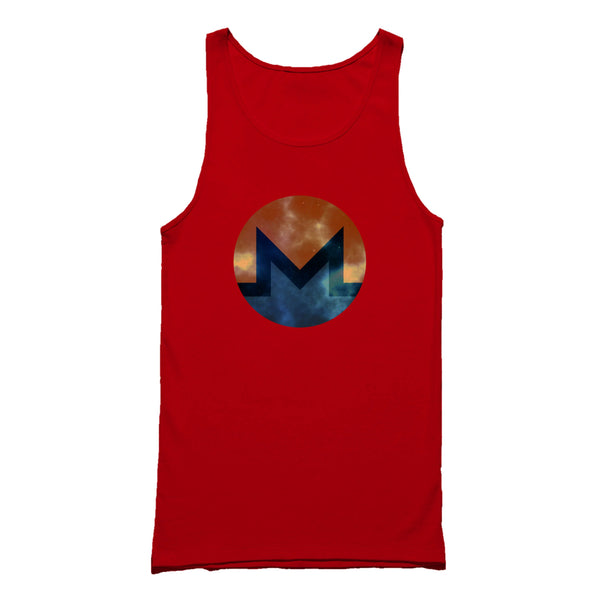 Monero Distressed Xmr Cyrpto Symbol Tank Top