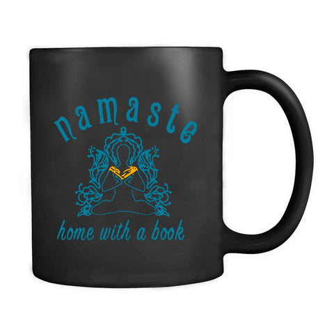 Namaste Home With A Book Yoga And Reading Mom Library Cute Girl Power Mug