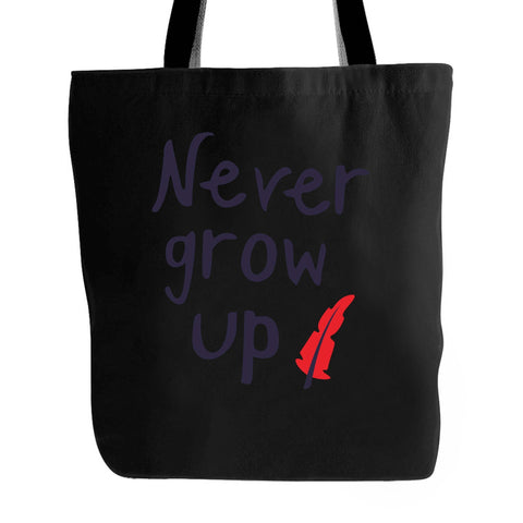 Never Grow Up Peter Pan Disney Halloween Feather Hipster Tote Bag
