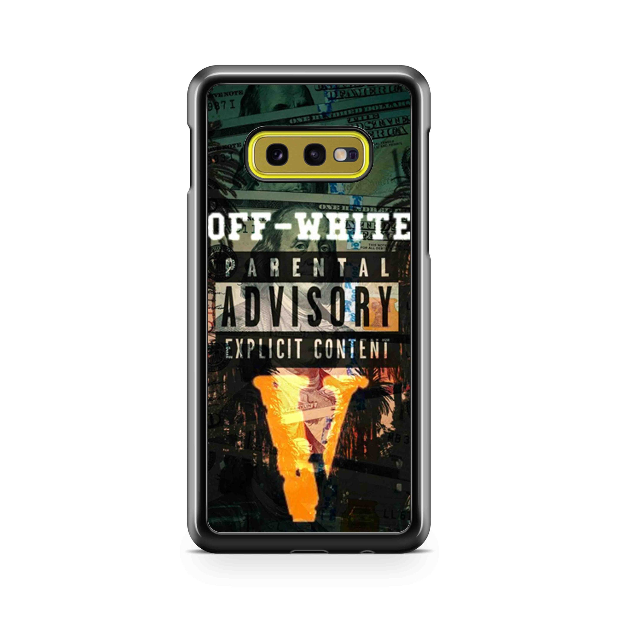 Nike Off White Parental Advisory Samsung Galaxy S10 Case