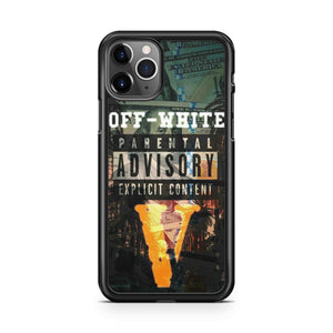 Nike Off White Parental Advisory iPhone 11 Pro Max Case