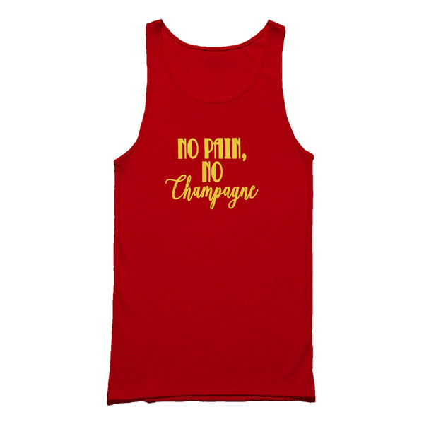 No Pain No Champagne No Gain Funny Cute Tank Top