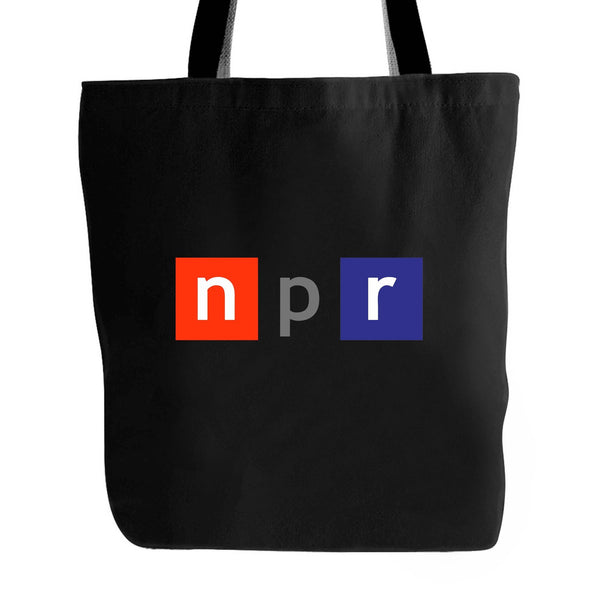 Npr Logo National Public Radio Media United States Tote Bag
