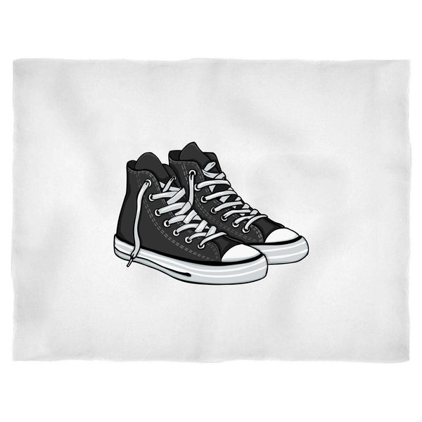 Old School Hi Tops Converse Shoe Design Blanket