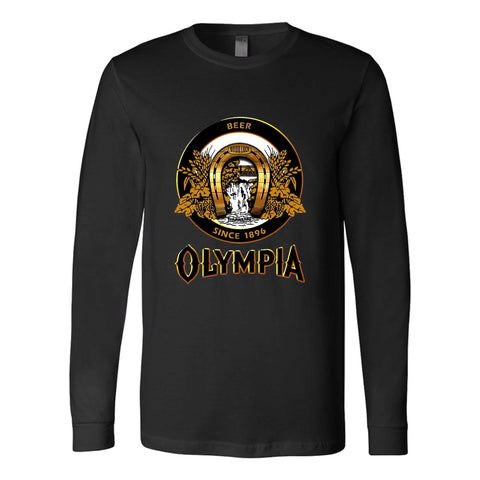 Olympia Beer It's The Water Graphic Creedence Long Sleeve T-Shirt