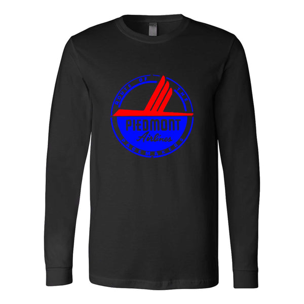 Piedmont Airlines Logo Fly Airplane Long Sleeve T-Shirt