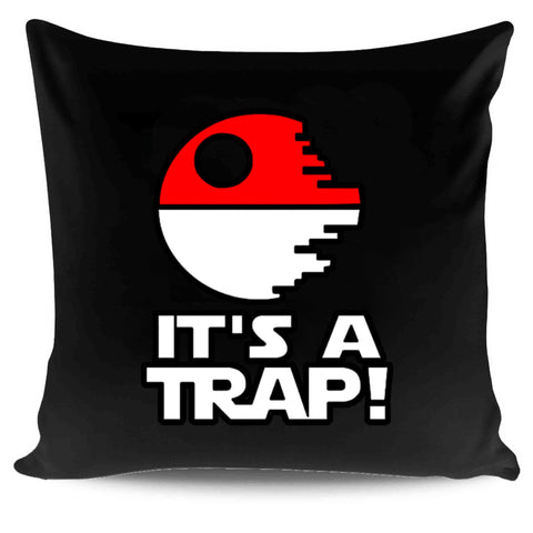 Pokemon Go And Star Wars Admiral Ackbar Quotes It's a Trap Pillow Case Cover