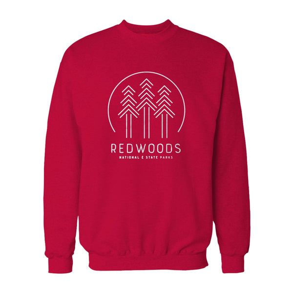 Redwoods National Park Hipster Modern Outdoorsy California State Nature Geography Hiking Sweatshirt
