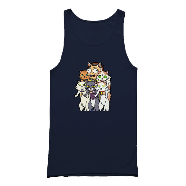 Rick And Morty Cats Pickle Rick Neko Atsume Tank Top