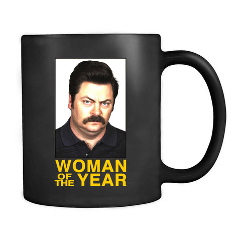 Ron Swanson Woman Of The Year Parks And Recreation Rec Mug