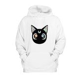 Sailor Moon Holographic Luna Cat Sparkle Anime Hoodie