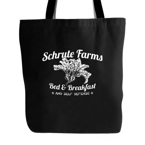Schrute Farms Bed and Breakfast The Office Dunder Mifflin Dwight Shrute Tv Show Jim Halpert Tote Bag