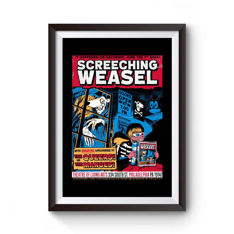 Screeching Weasel Poster Graphic Unique Mystery Occult Black Magic Spiritual Steampunk Goth Astronomy Scary Christmas Drawing Fantasy Poster