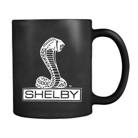Shelby Cobra Black Or Heather Charcoal Retro Car Auto Logo Mug