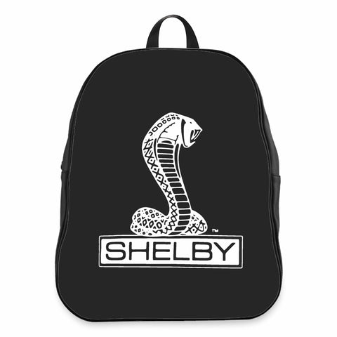 Shelby Cobra Black Or Heather Charcoal Retro Car Auto Logo CPY School Backpacks Bag