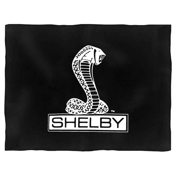 Shelby Cobra Black Or Heather Charcoal Retro Car Auto Logo Blanket