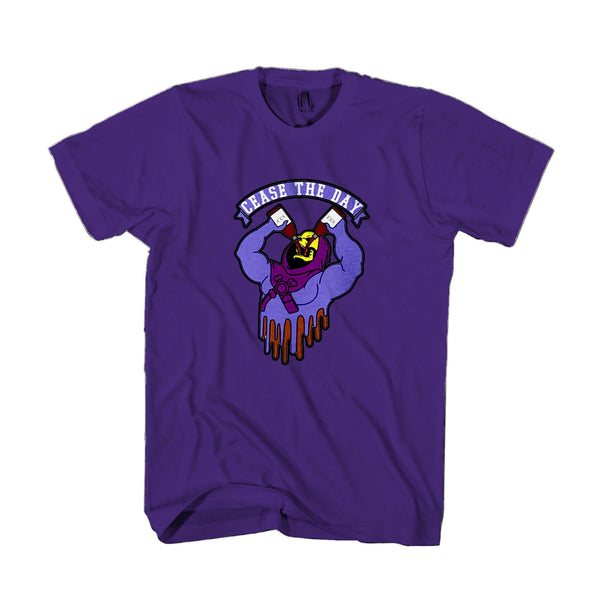 Skeletor Drinking Cease The Day He Man Retro 80s Man's T-Shirt