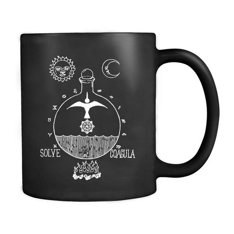 Solve Et Coagula Occult Alchemy Magic Esoteric Correspondence Gnostic Spiritual Diagram Rosicrucian Symbolic Language Transmutation Mug