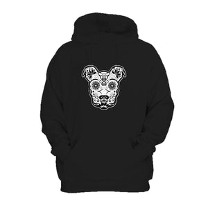 St Patricks Day Sugar Skull Pitbull Ireland Flag Hoodie