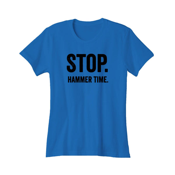 Stop Mc Hammer Time Funny 90's Hip Hop Rap Lyric Music Hits Me Can't Touch This Women's T-Shirt