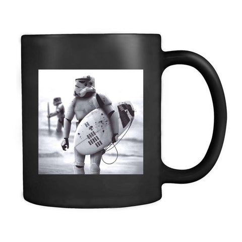 Storm Trooper Star Wars Surfing Storm Trooper Darth Vader Vintage Style Picture Funny Selfie Mug