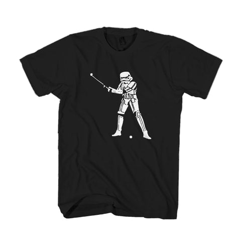 Stormtrooper Golf Fair Trade Svenion Vintage 80ies Bremen Classic Golf Star Wars Darth Vader Crowd Motions Man's T-Shirt
