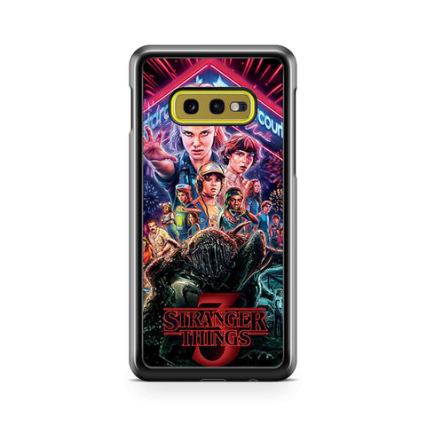Stranger Things 3 Poster Samsung Galaxy S10 Case